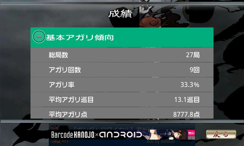 androidアプリ 麻雀 雷神 -ライジング-攻略スクリーンショット5