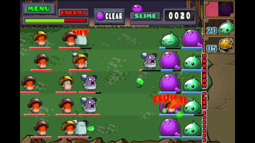 スライム対キノコ(Slime vs. Mushroom) androidアプリスクリーンショット1