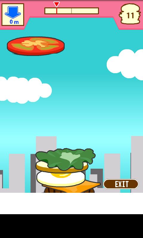 積んでけハンバーガー androidアプリスクリーンショット1