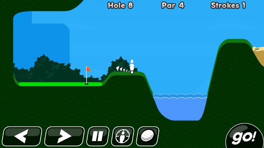 androidアプリ スーパー スティックマン ゴルフ攻略スクリーンショット1