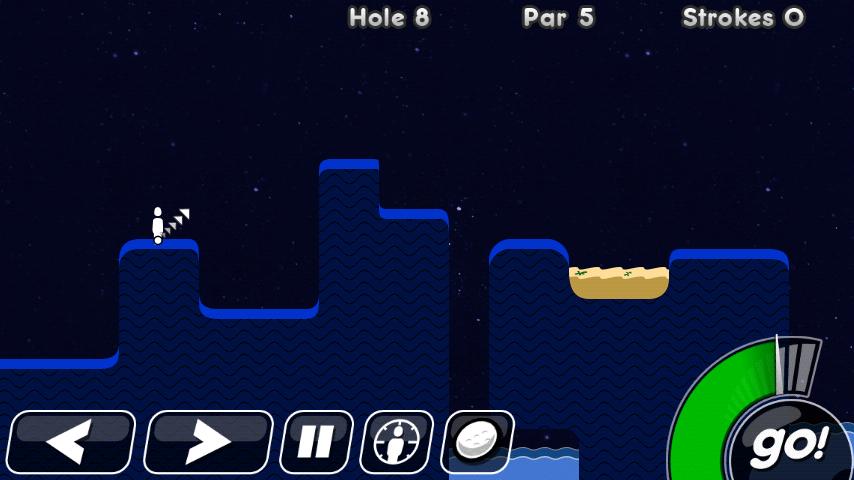 androidアプリ スーパー スティックマン ゴルフ攻略スクリーンショット2