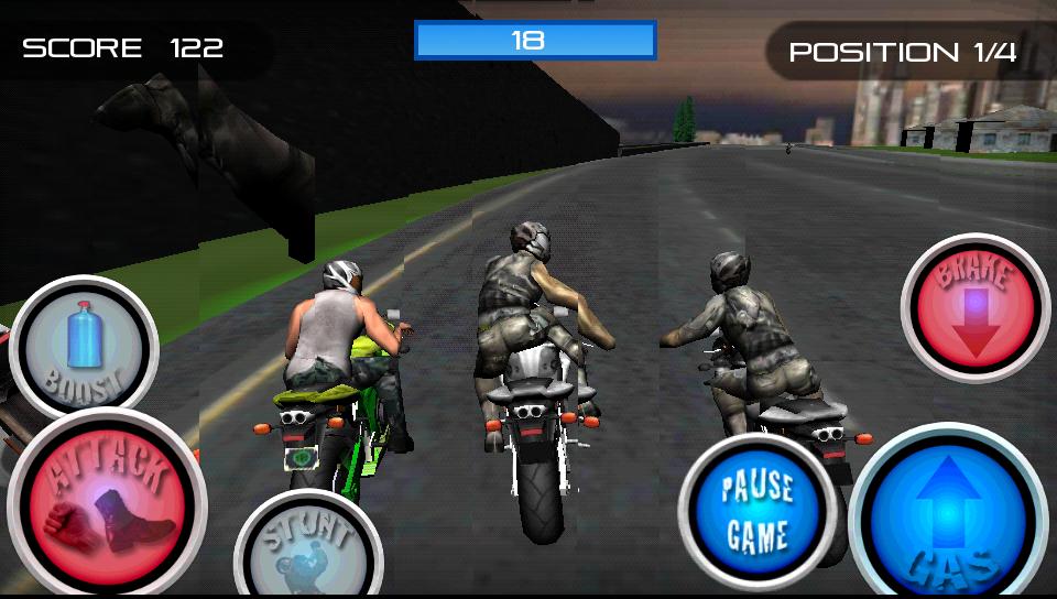 レーススタントファイト!オートバイ androidアプリスクリーンショット1