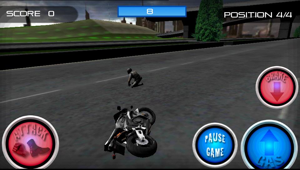 レーススタントファイト!オートバイ androidアプリスクリーンショット2