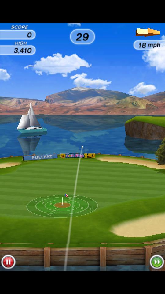 フリックゴルフ! androidアプリスクリーンショット1