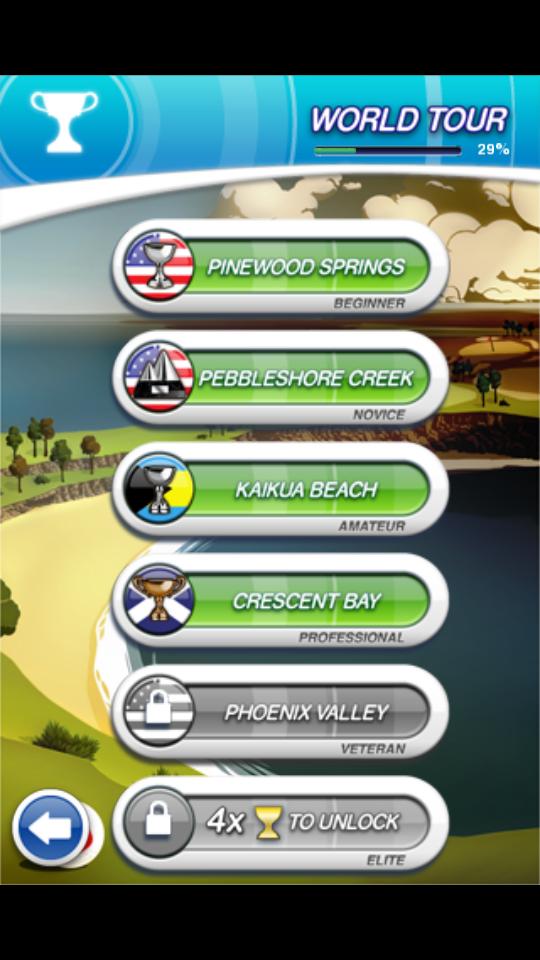 フリックゴルフ! androidアプリスクリーンショット2