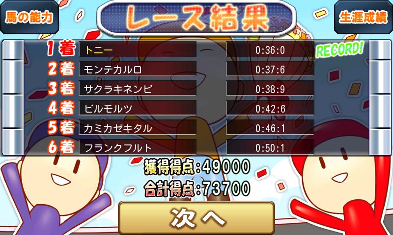 うまうまダービー〜激闘ジョッキーバトル〜 androidアプリスクリーンショット2
