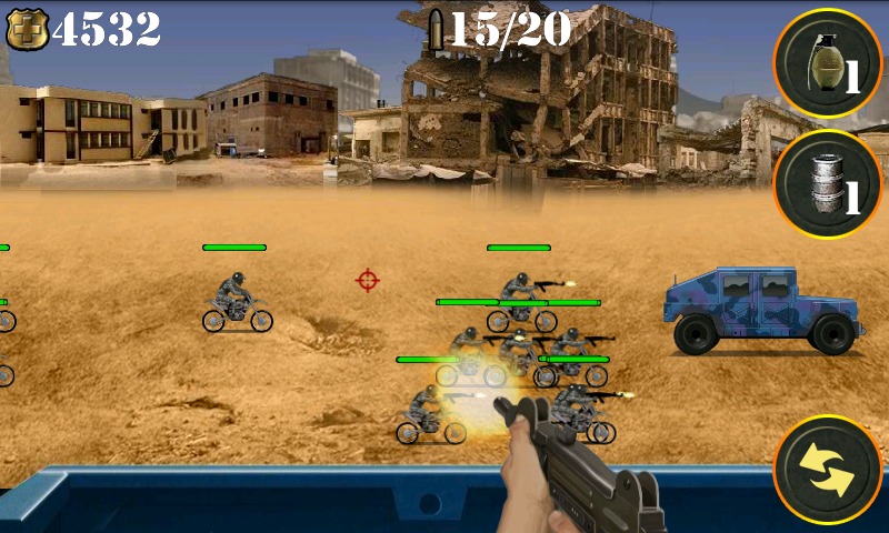 androidアプリ ウォーゾーンゲッタウェイ シューティングゲーム攻略スクリーンショット1