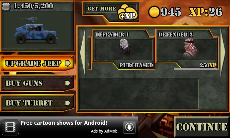 androidアプリ ウォーゾーンゲッタウェイ シューティングゲーム攻略スクリーンショット3