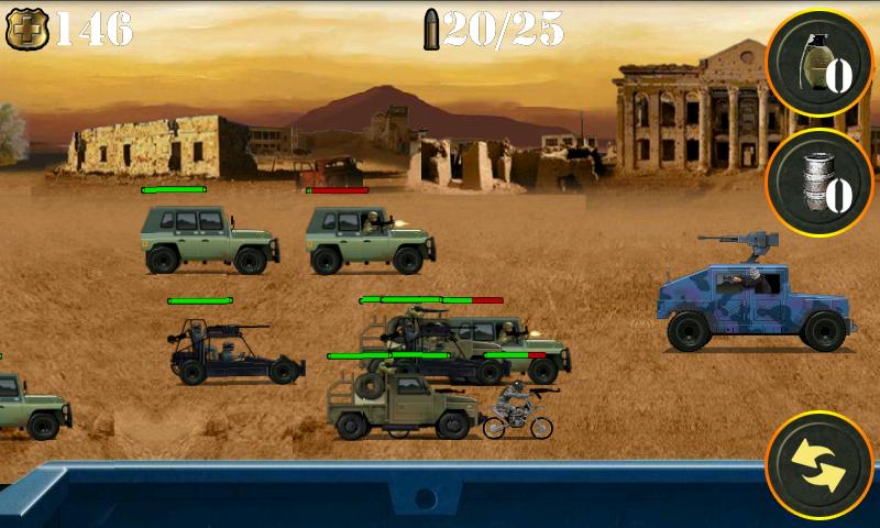 ウォーゾーンゲッタウェイ シューティングゲーム androidアプリスクリーンショット1