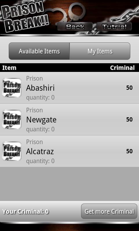 androidアプリ Prison Break攻略スクリーンショット5
