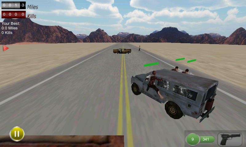 ドライブ ウィズ ゾンビ 3D androidアプリスクリーンショット1