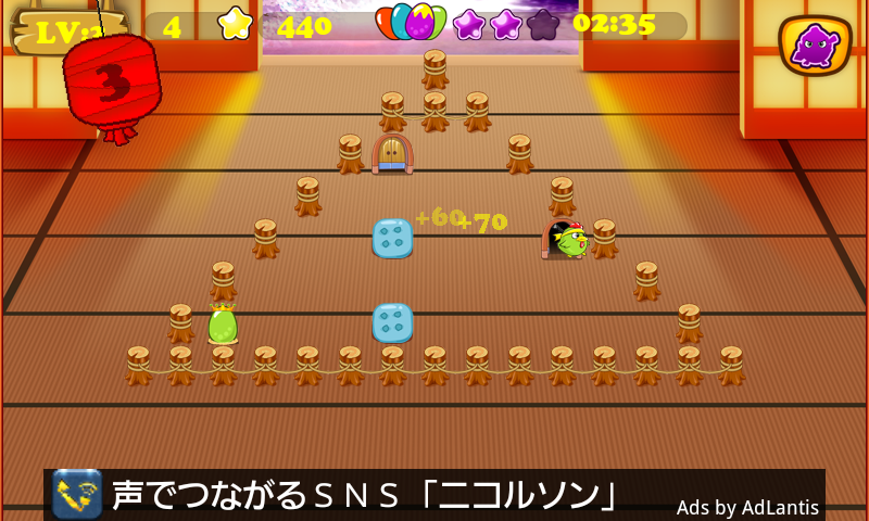 androidアプリ 忍者 小鳥 バード攻略スクリーンショット1