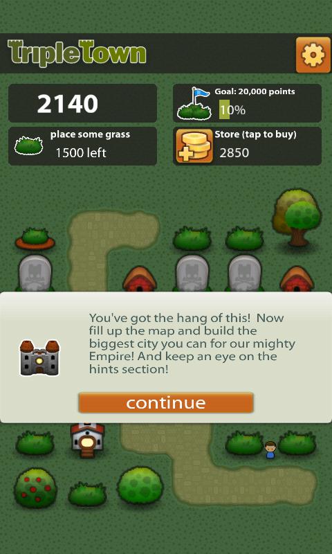 トリプルタウン androidアプリスクリーンショット3