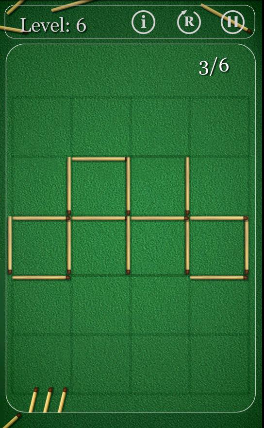 マッチ棒パズル androidアプリスクリーンショット1