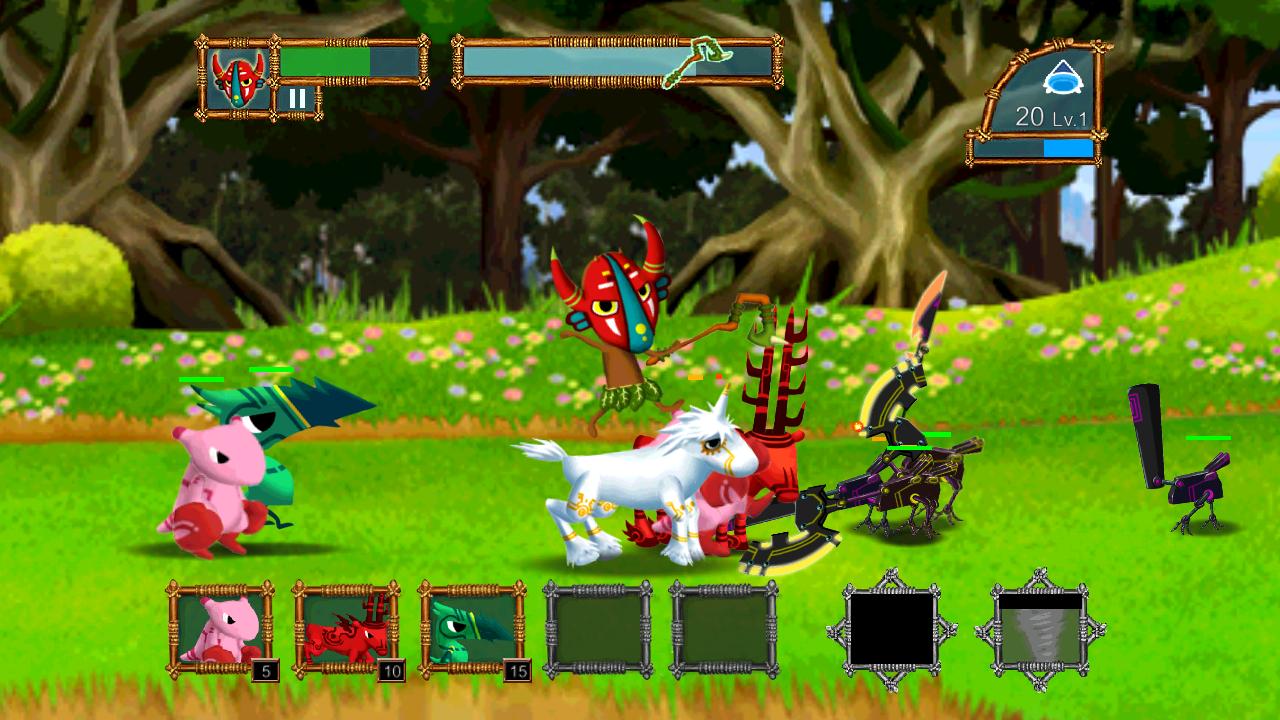 森の防衛戦 androidアプリスクリーンショット1