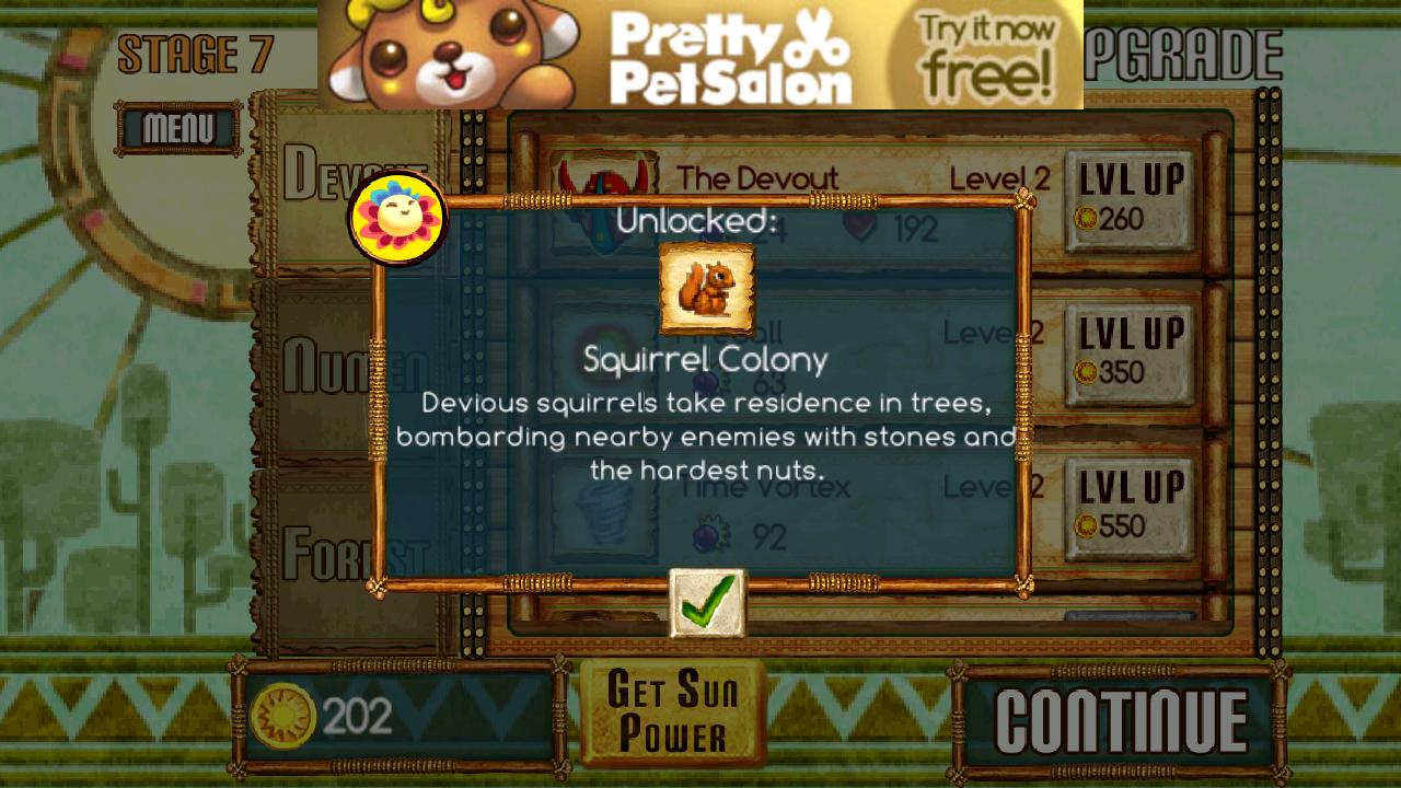 森の防衛戦 androidアプリスクリーンショット2