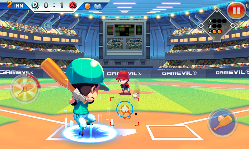 androidアプリ ベースボールスーパースターズ 2012攻略スクリーンショット1
