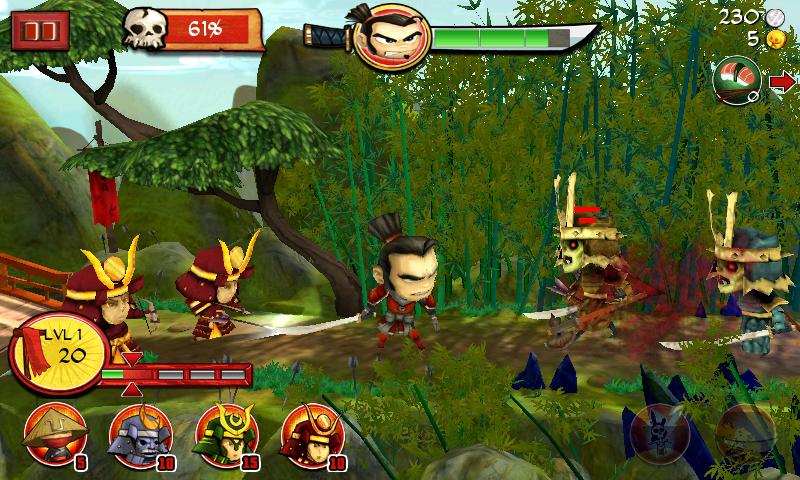 サムライvsゾンビーズ ディフェンス androidアプリスクリーンショット3