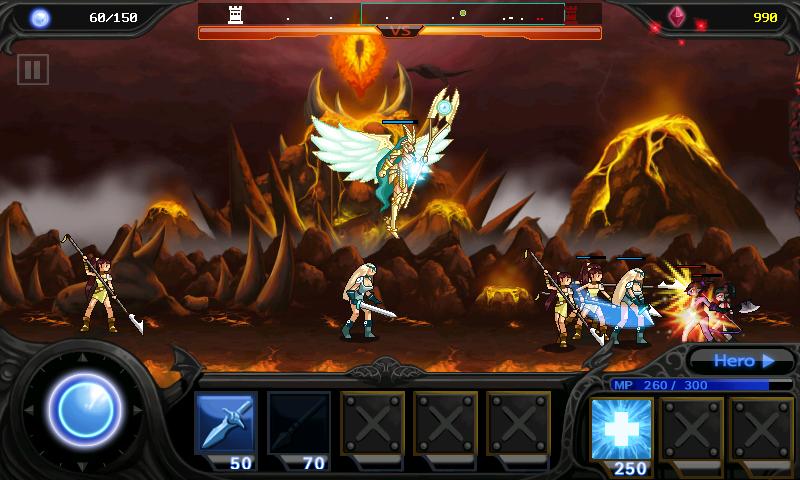 デスティニー・ディフェンス : 天使と悪魔 androidアプリスクリーンショット1