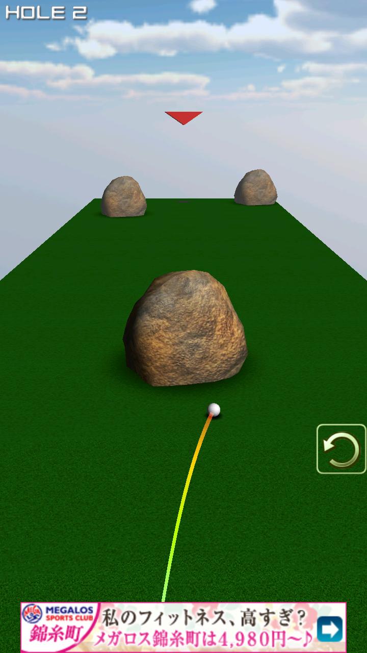 androidアプリ 1球パターゴルフ2~ボールを曲げて無理難題を攻略!攻略スクリーンショット2