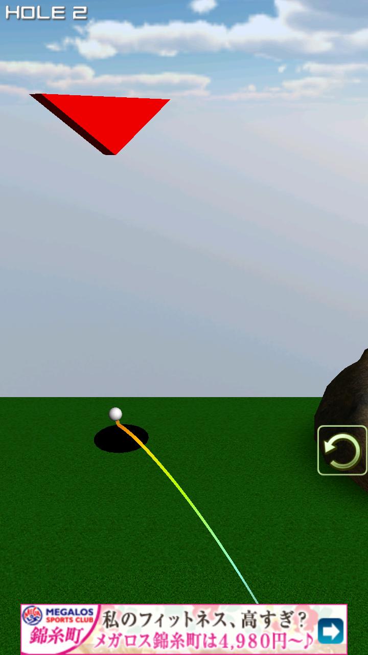 androidアプリ 1球パターゴルフ2~ボールを曲げて無理難題を攻略!攻略スクリーンショット3
