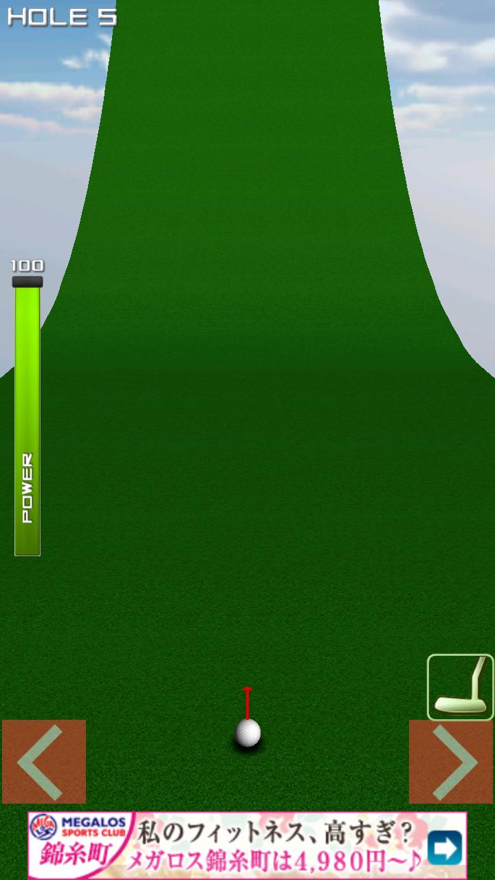 androidアプリ 1球パターゴルフ2~ボールを曲げて無理難題を攻略!攻略スクリーンショット4
