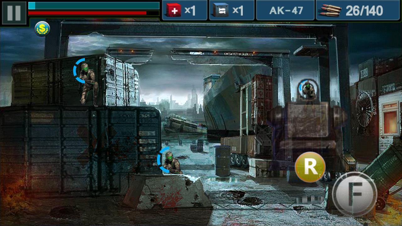 androidアプリ ガン&ブラッド攻略スクリーンショット1
