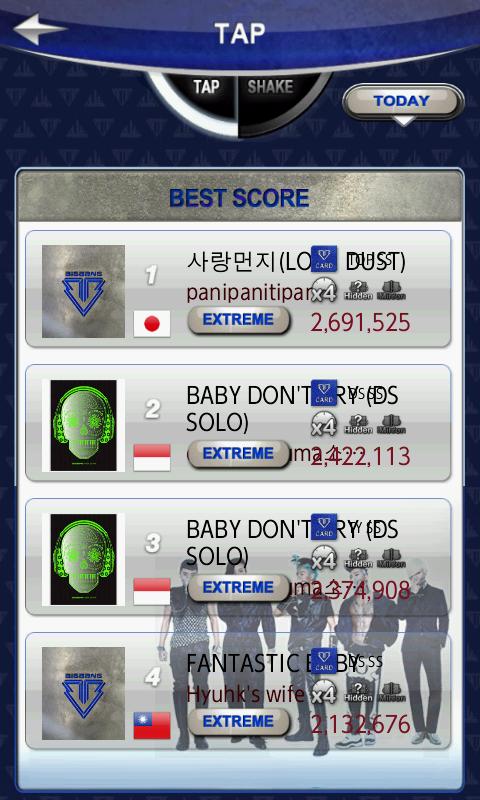 BIGBANG シェイク androidアプリスクリーンショット3