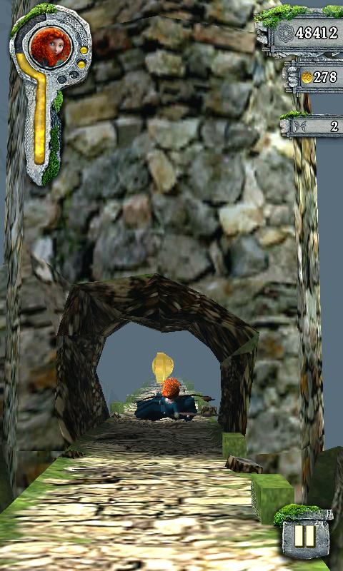 テンプルラン:メリダとおそろしの森 androidアプリスクリーンショット2