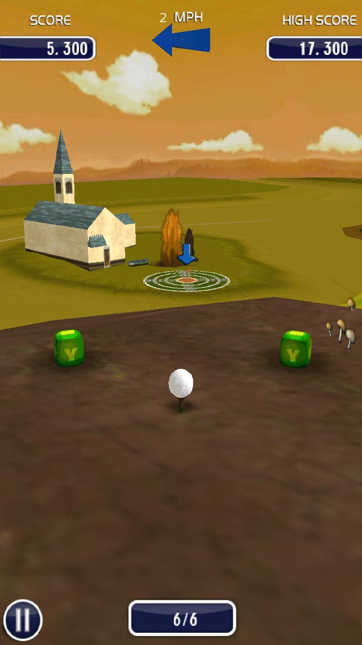 androidアプリ ゴルフ 3D攻略スクリーンショット1
