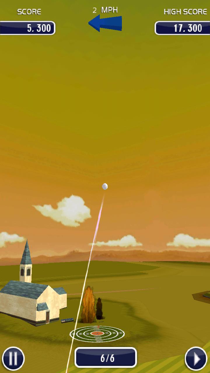 androidアプリ ゴルフ 3D攻略スクリーンショット2