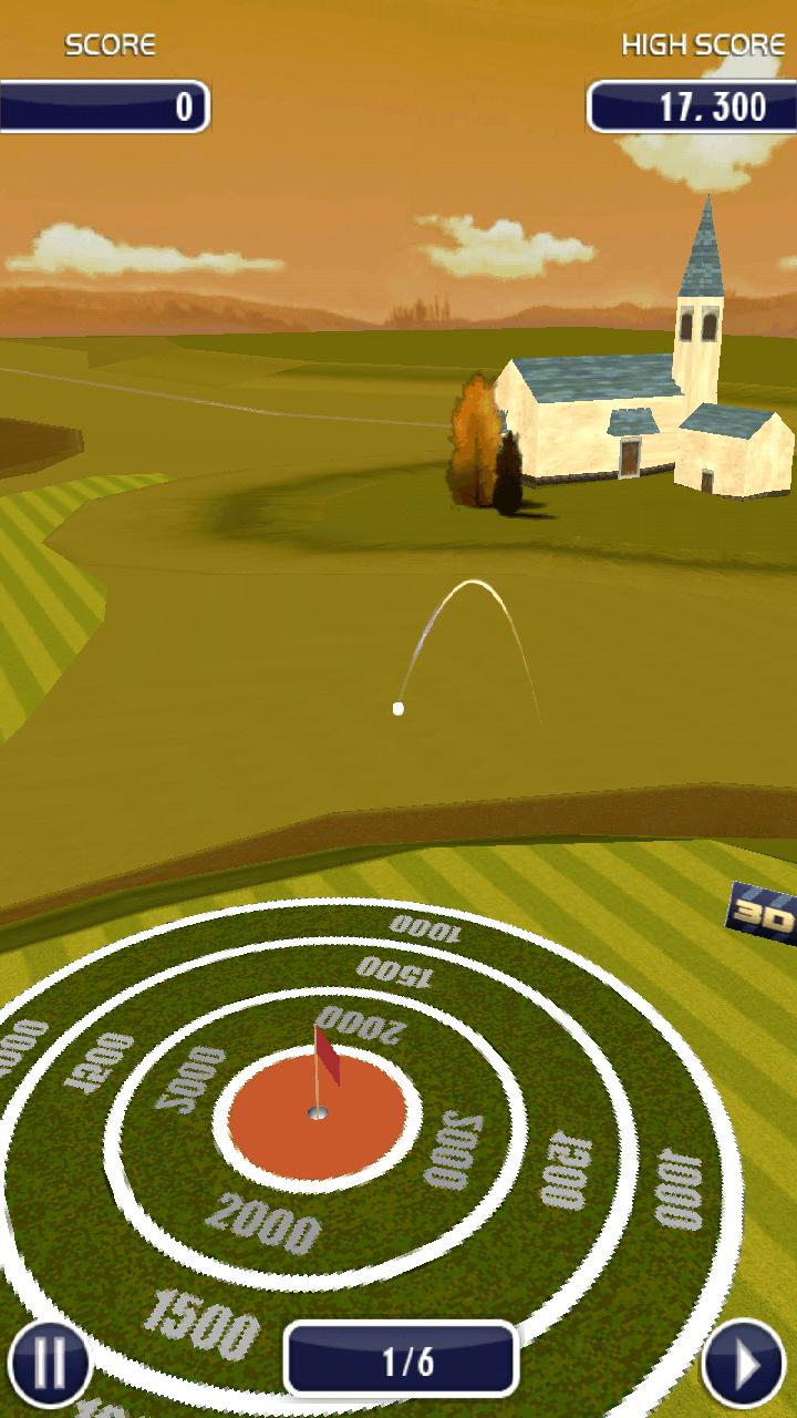androidアプリ ゴルフ 3D攻略スクリーンショット3