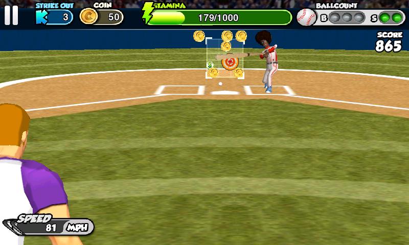 androidアプリ フリック・ベースボール攻略スクリーンショット1