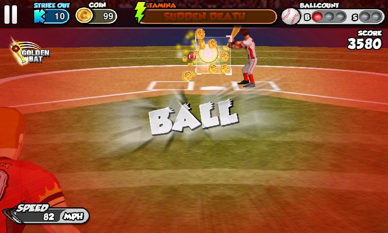 androidアプリ フリック・ベースボール攻略スクリーンショット2