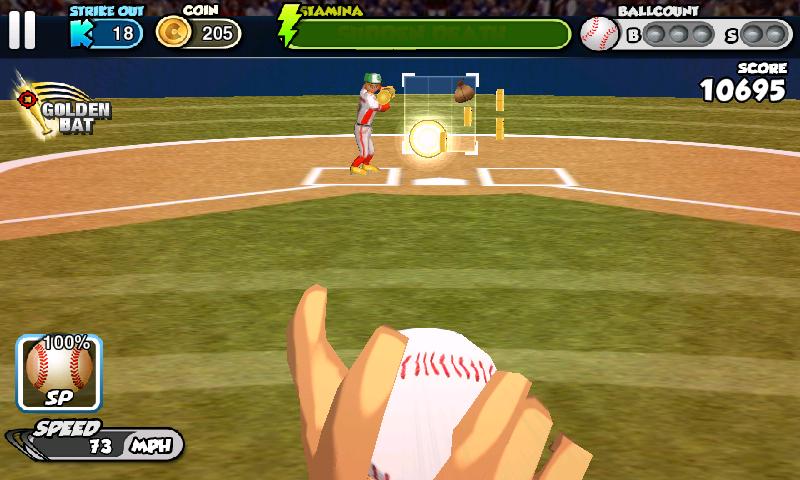 androidアプリ フリック・ベースボール攻略スクリーンショット4