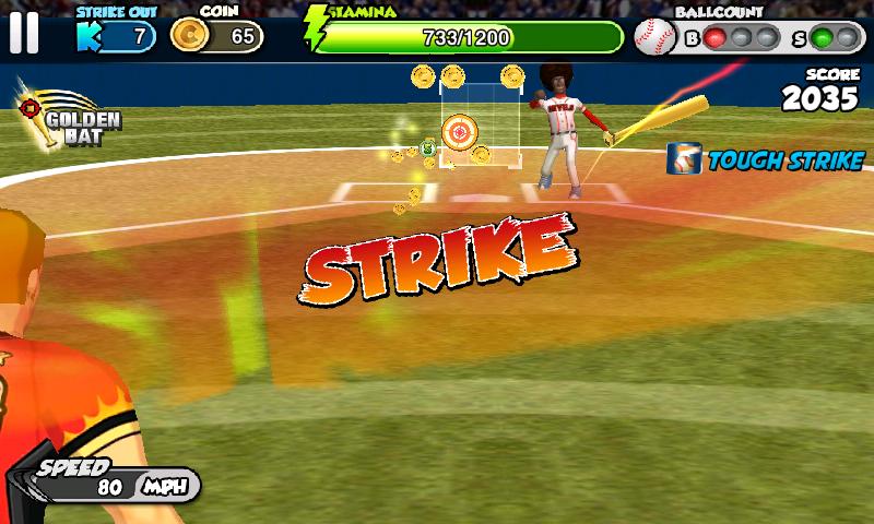 フリック・ベースボール androidアプリスクリーンショット1