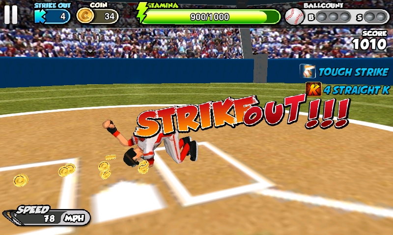 フリック・ベースボール androidアプリスクリーンショット2