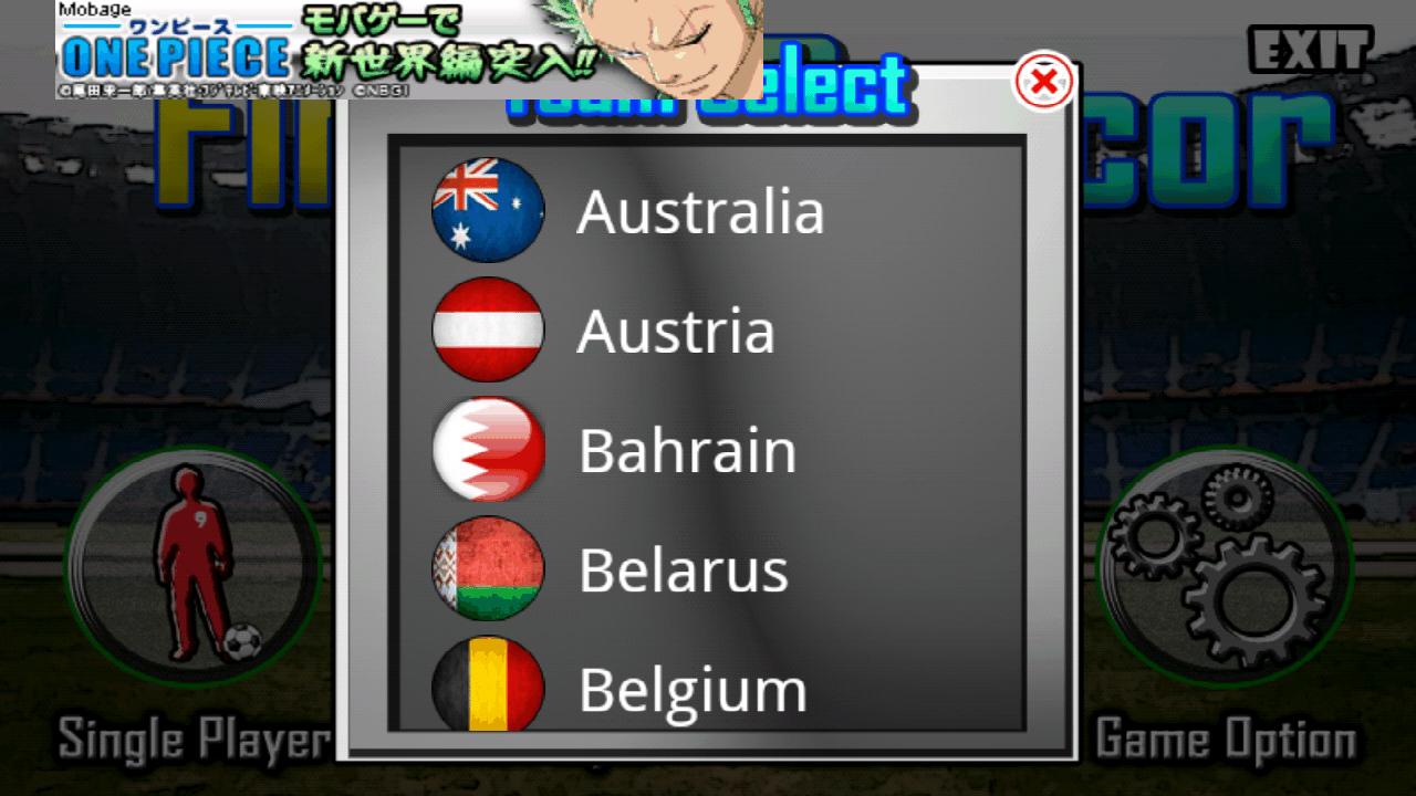 androidアプリ 指サッカー ライト攻略スクリーンショット1