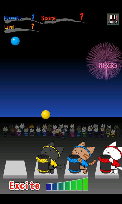 androidアプリ ネコ花火攻略スクリーンショット2