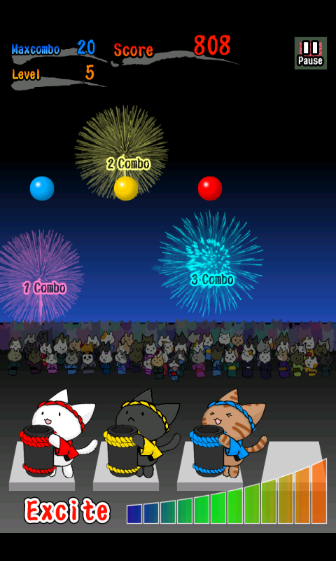 androidアプリ ネコ花火攻略スクリーンショット3