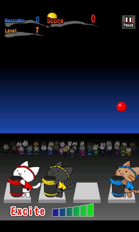 ネコ花火 androidアプリスクリーンショット2