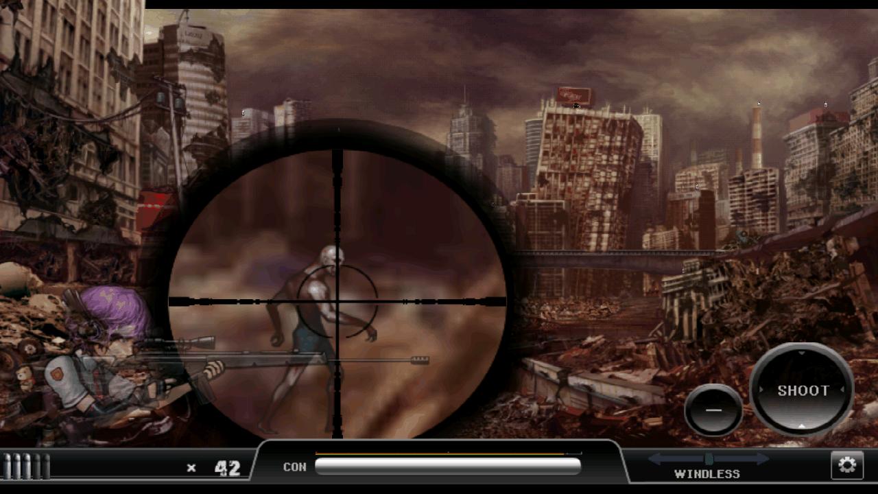 ゴーストスナイパー :ゾンビ androidアプリスクリーンショット1
