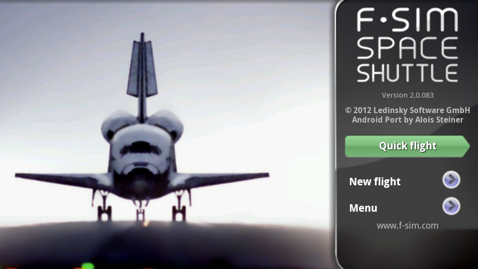 androidアプリ F-Sim スペースシャトル攻略スクリーンショット1