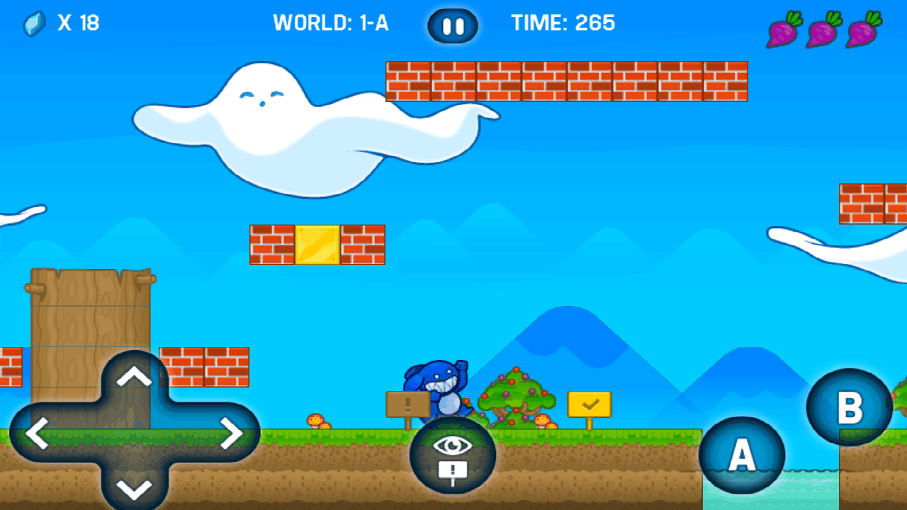 androidアプリ スーパー ブルーラビット ワールド攻略スクリーンショット5