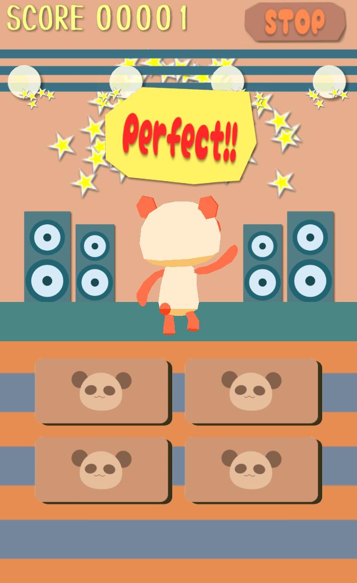 覚えてダンス パンダンサー!! androidアプリスクリーンショット1