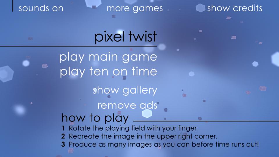 androidアプリ ピクセル・ツイスト攻略スクリーンショット1