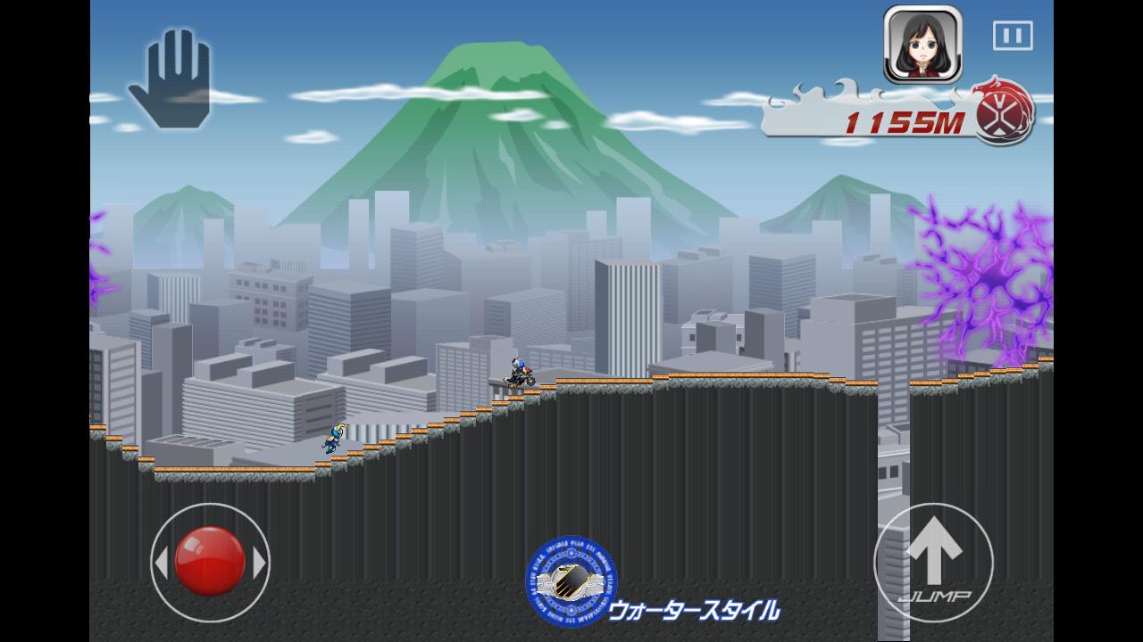androidアプリ 仮面ライダーウィザード×チャリ走攻略スクリーンショット1