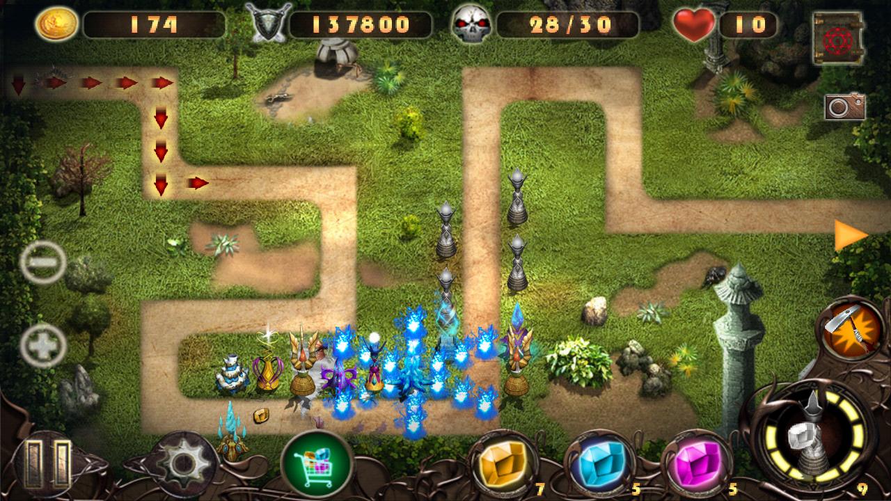 エピックディフェンス2‐風の呪文‐ androidアプリスクリーンショット1