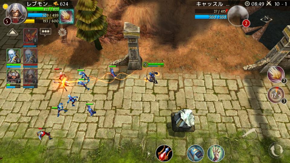 ヒーローズ・オブ・オーダー&カオス androidアプリスクリーンショット1