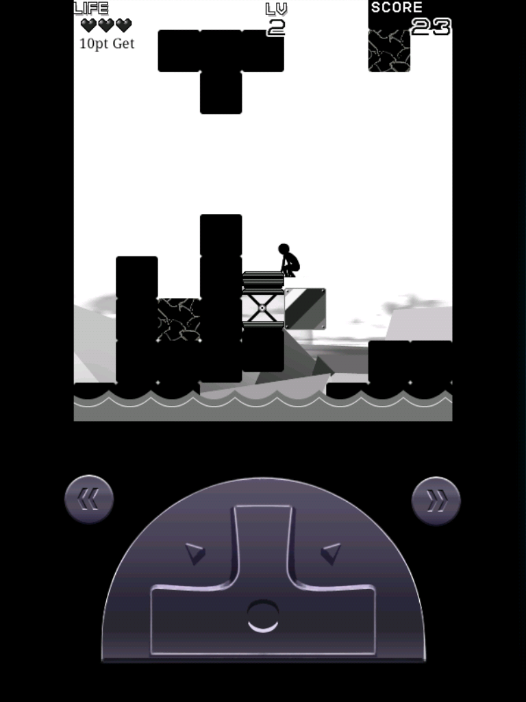 ブロックしずみA androidアプリスクリーンショット1